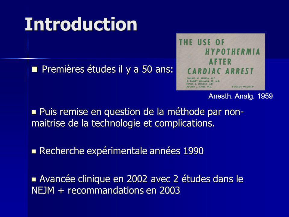 Introduction Premières études il y a 50 ans: Premières études il y a 50 ans: Puis remise en question de la méthode par non- maitrise de la technologie