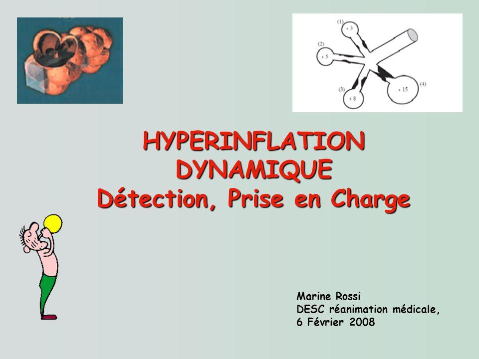 Marine Rossi DESC réanimation médicale, 6 Février 2008 HYPERINFLATION DYNAMIQUE Détection, Prise en Charge