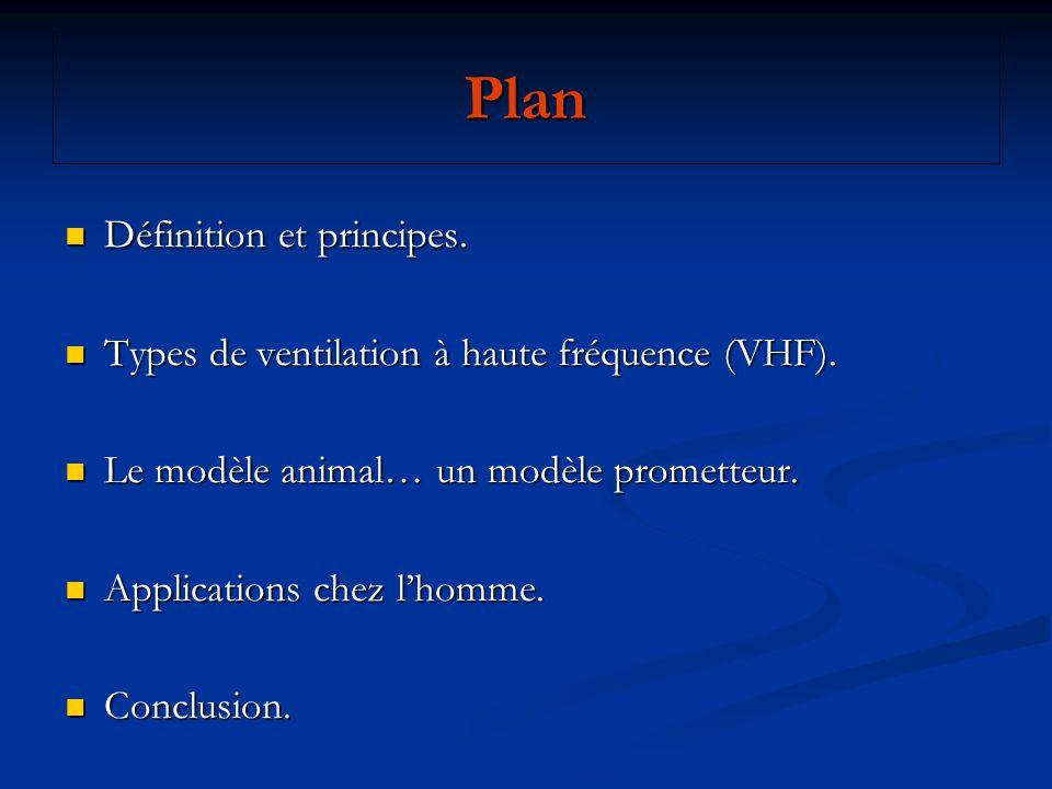Plan Définition et principes. Définition et principes. Types de ventilation à haute fréquence (VHF). Types de ventilation à haute fréquence (VHF). Le
