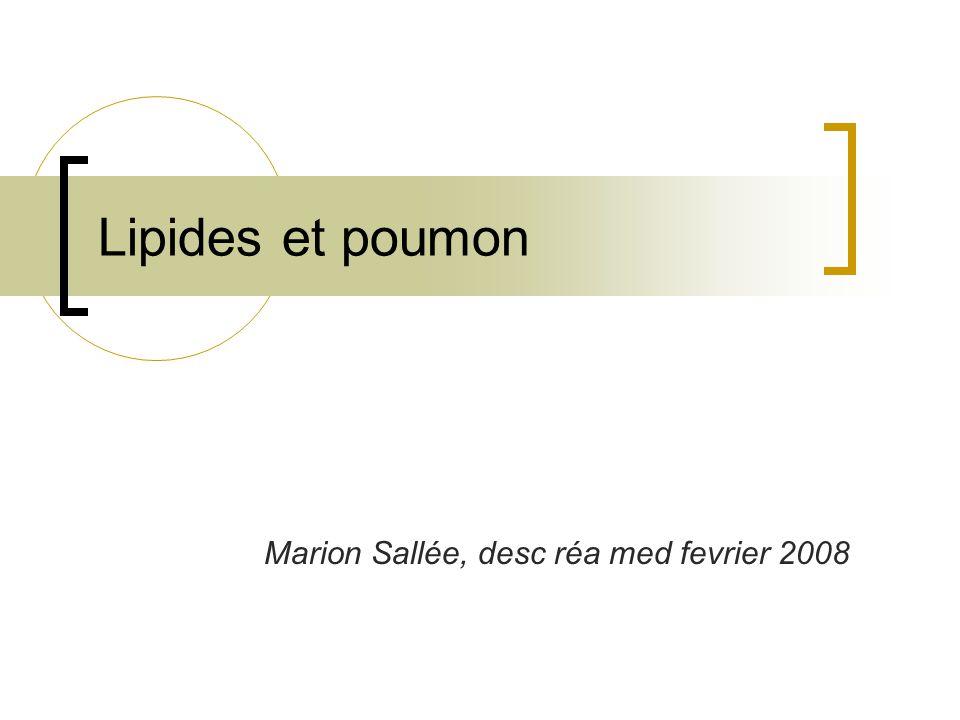 Lipides et poumon Marion Sallée, desc réa med fevrier 2008