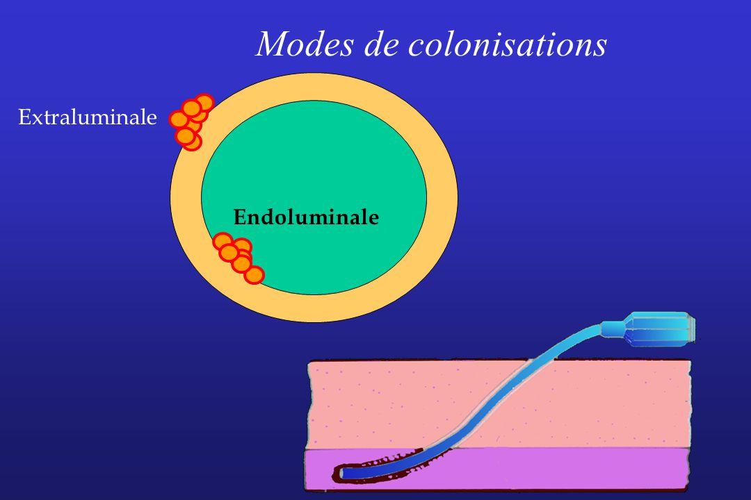 Modes de colonisations Endoluminale Extraluminale