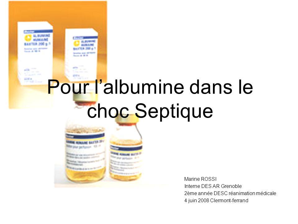 Pourquoi lalbumine ? Crit Care Med 2004