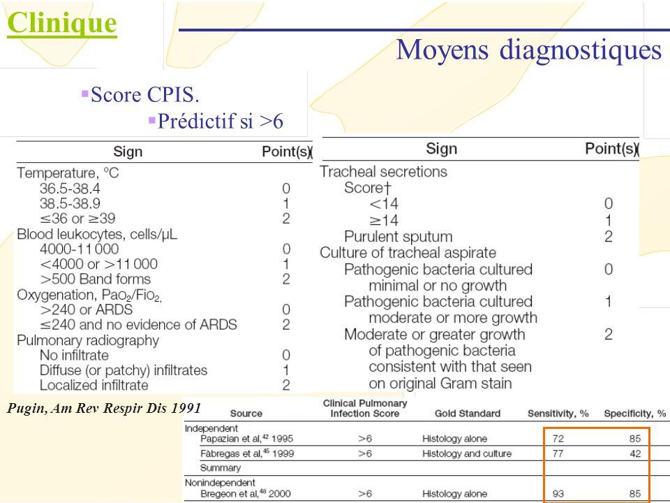 Clinique Stratégie diagnostique Stratégie plutôt Nord Américaine Singh, AJRCCM 2000 Rapidité Simplicité