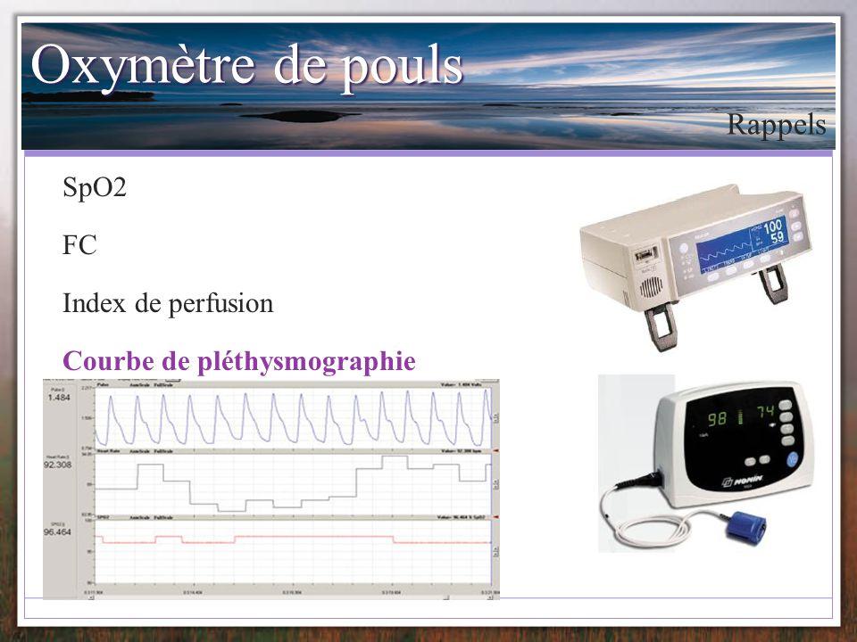 Indicateurs de remplissage Rappels Remplissage vasculaire Optimisation des paramètres HD Grocott AA 2005 œdème pulmonaire Diminution oxygénation tissulaire Joshi AA 2005 Indices de remplissage fiables