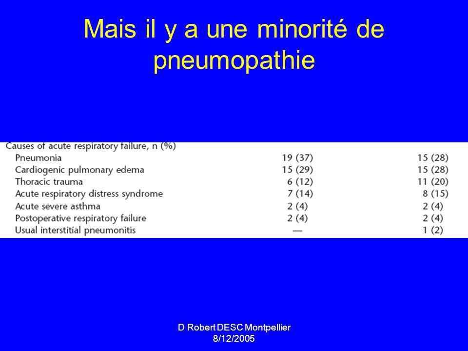 Mais il y a une minorité de pneumopathie
