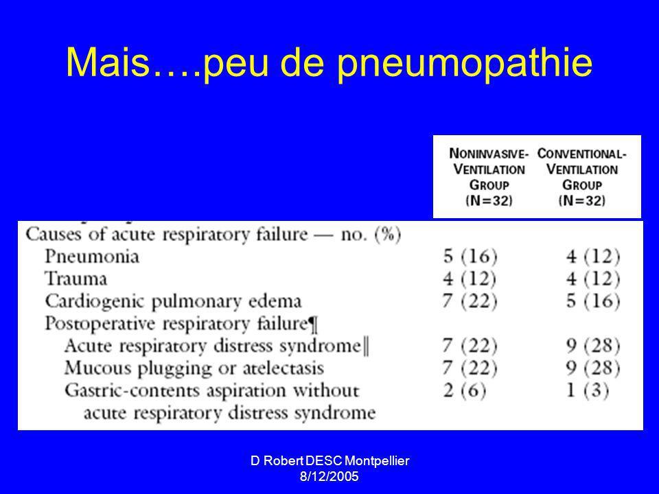 Mais….peu de pneumopathie