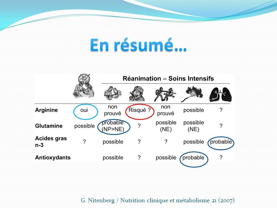 G. Nitenberg / Nutrition clinique et métabolisme 21 (2007)