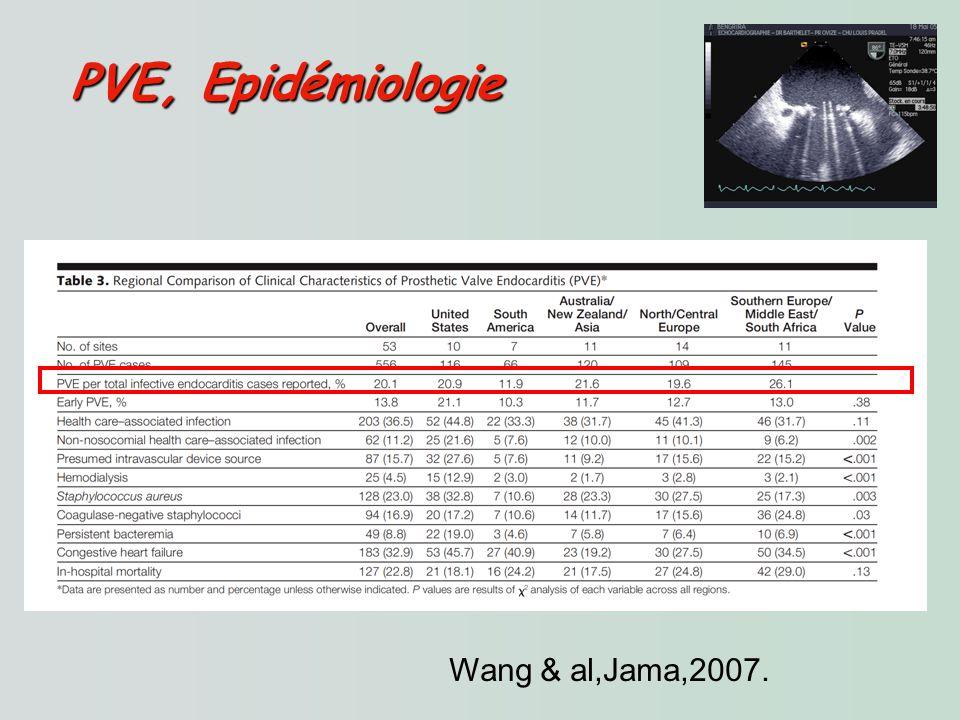 Wang & al,Jama,2007. PVE, Epidémiologie PVE, Epidémiologie