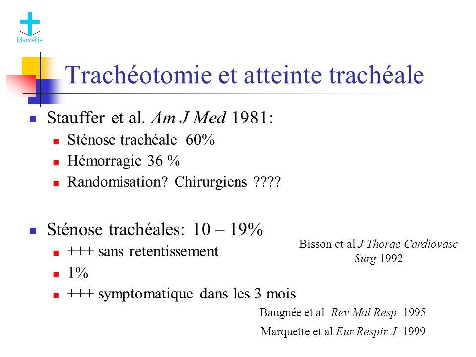 Trachéotomie et atteinte trachéale Stauffer et al.