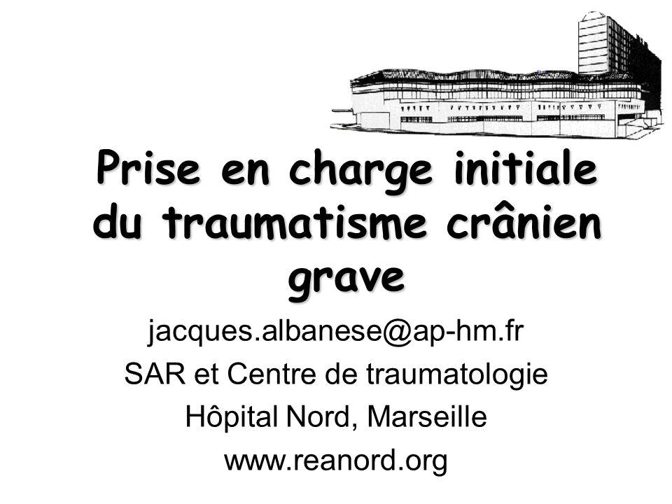 Bon devenir 30% GOS à long terme sur 381 traumatisés graves Hôpital Nord (2000-2006) 10% Mauvais devenir 51,6% Introduction
