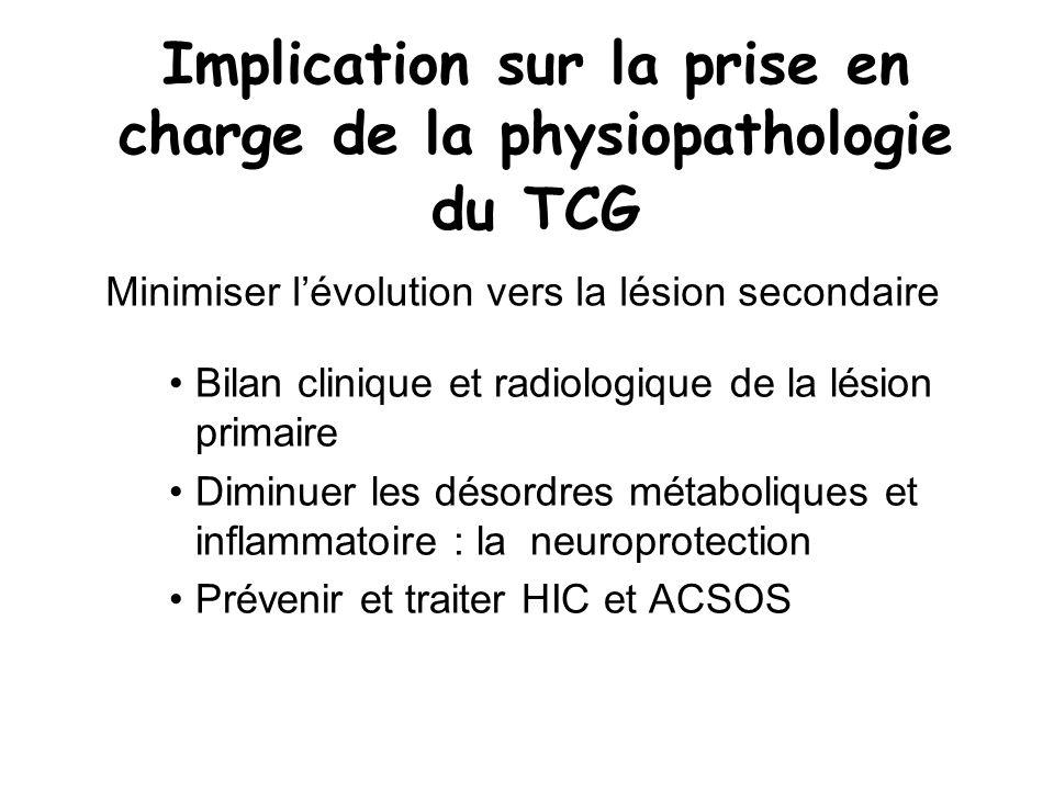 Contusion hémorragique J5 GSC = 13
