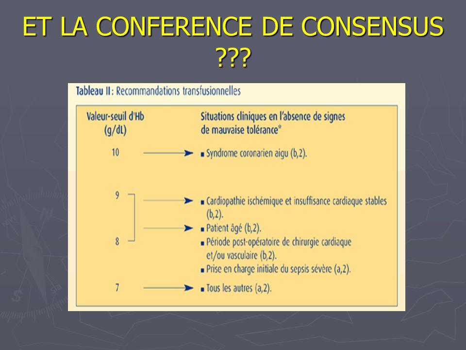ET LA CONFERENCE DE CONSENSUS