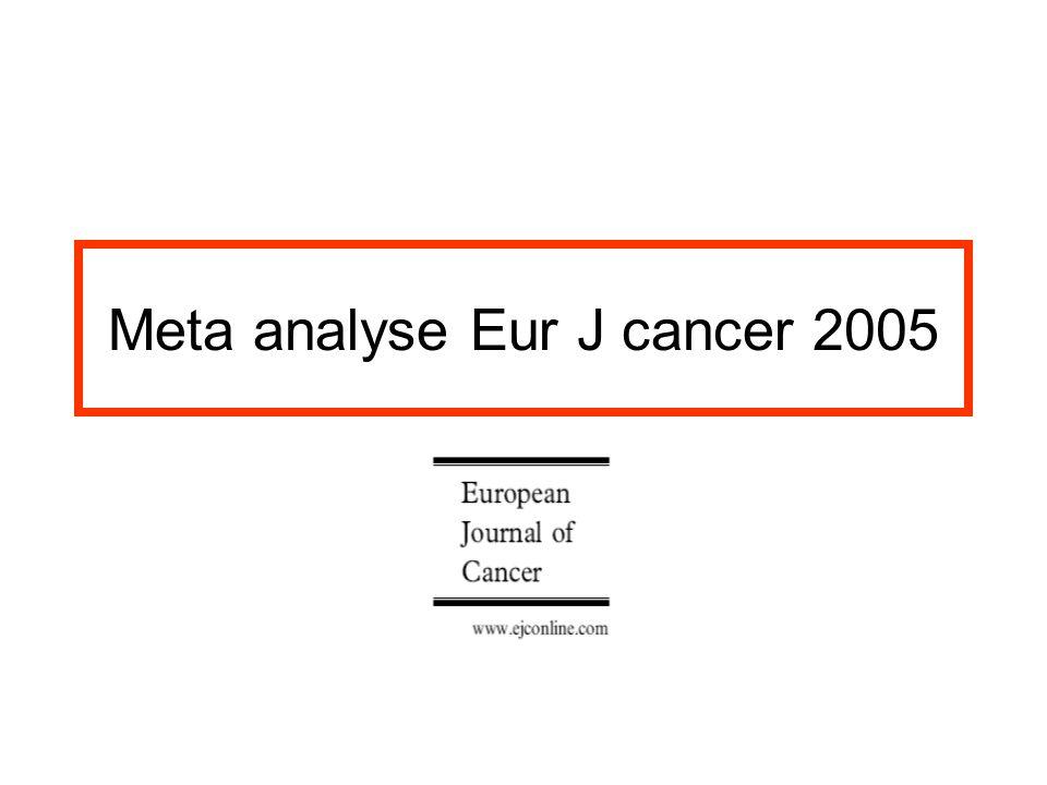 Meta analyse Eur J cancer 2005