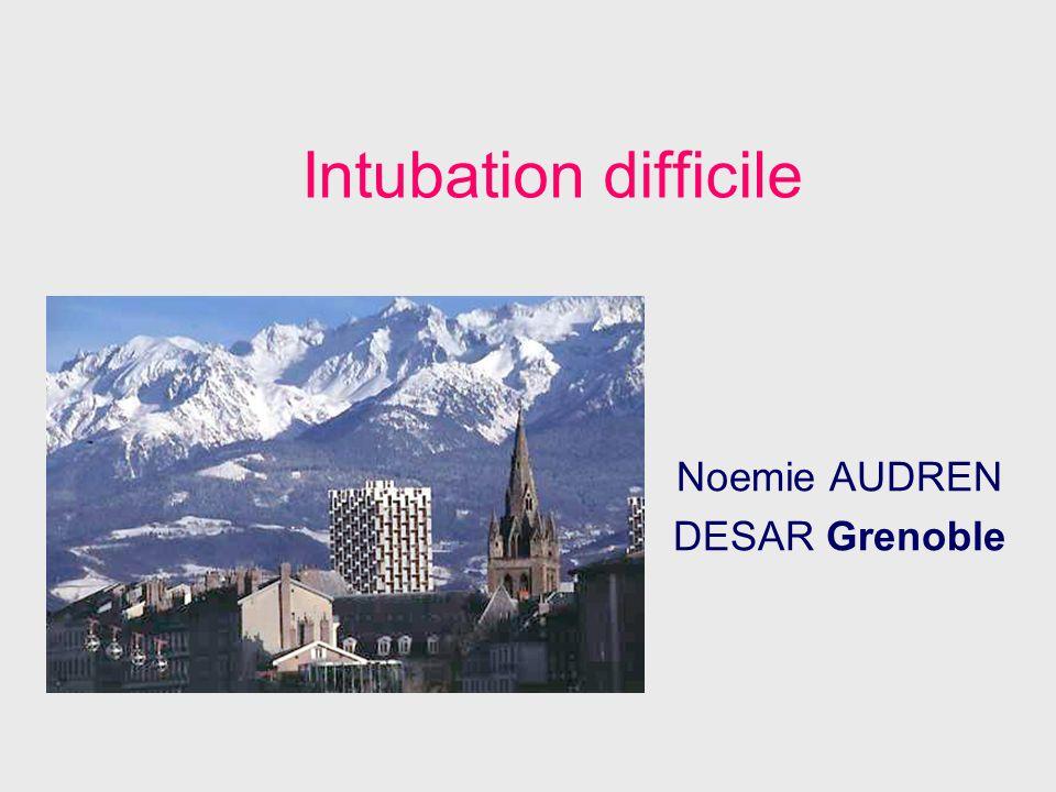 Intubation difficile Noemie AUDREN DESAR Grenoble