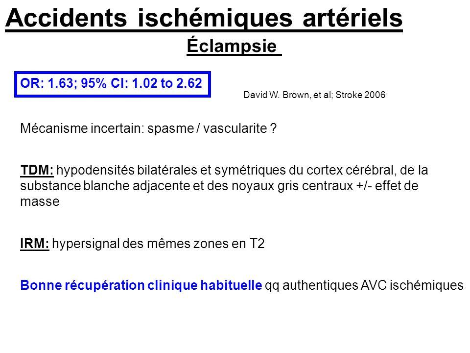 Hémorragies cérébrales SAH: hémor ss arachoïdienne ICH: hémorragie intraparenchymateuse Jaigobin et al Stroke dec 2000