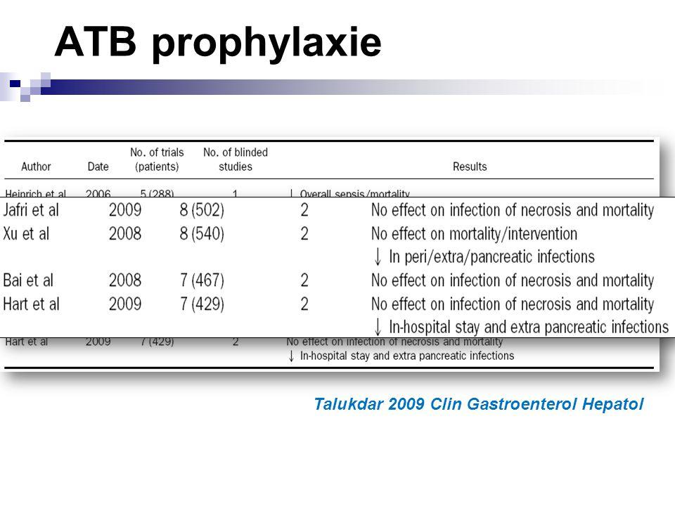 ATB prophylaxie Talukdar 2009 Clin Gastroenterol Hepatol