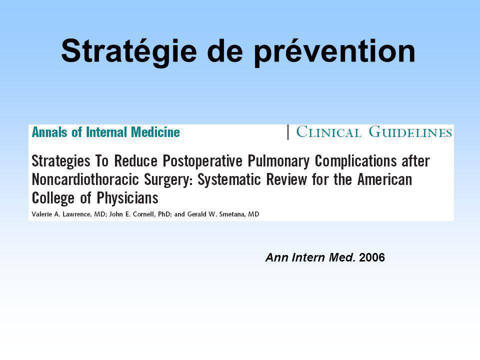 Ann Intern Med. 2006 Stratégie de prévention
