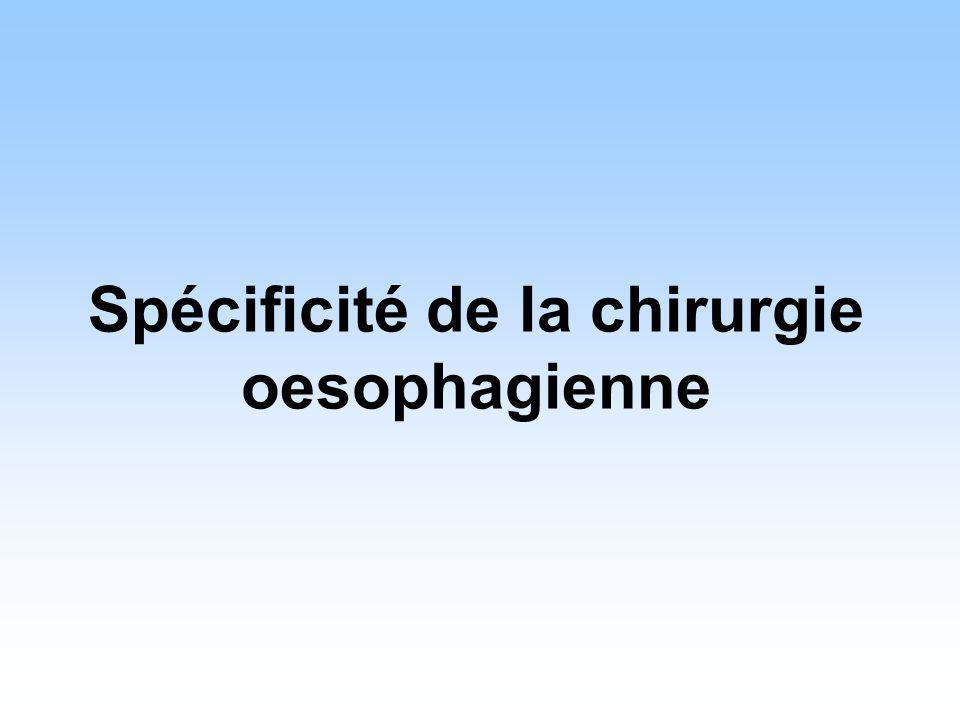 Spécificité de la chirurgie oesophagienne