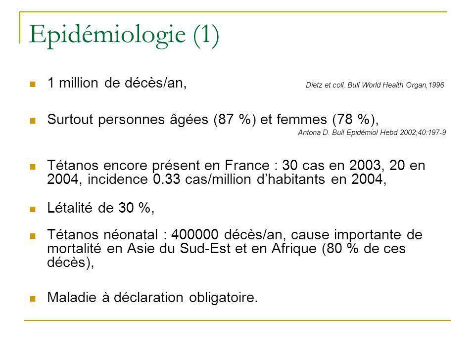 Epidémiologie (2) Bulletin épidémiologique hebdomadaire, février 2006