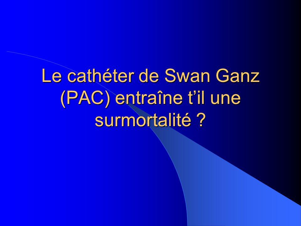 Le cathéter de Swan Ganz (PAC) entraîne til une surmortalité ?