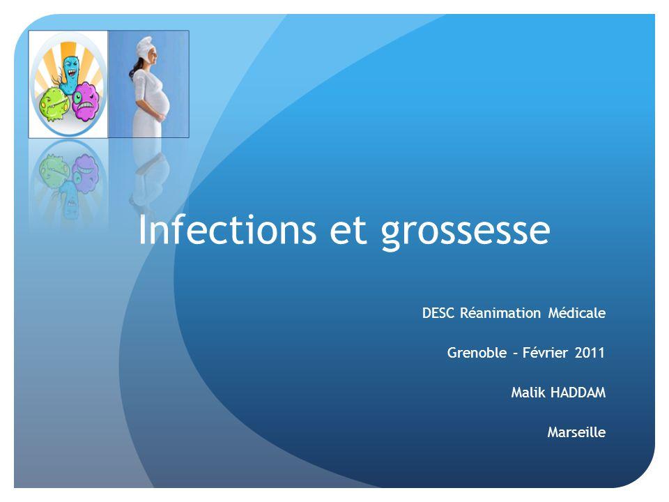 Infections et grossesse DESC Réanimation Médicale Grenoble – Février 2011 Malik HADDAM Marseille