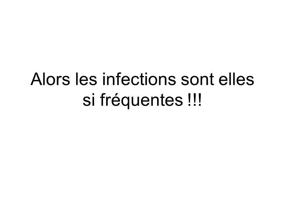 Alors les infections sont elles si fréquentes !!!