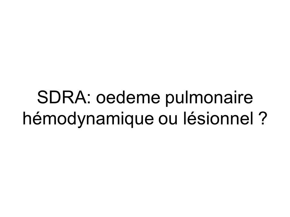 SDRA: oedeme pulmonaire hémodynamique ou lésionnel ?