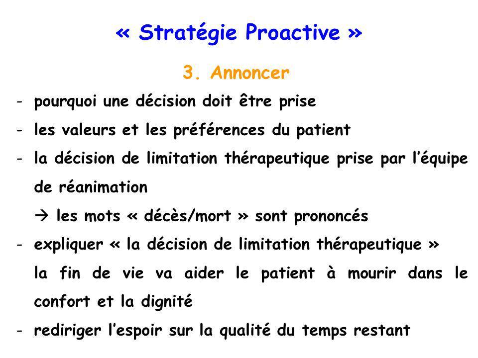 « Stratégie Proactive » 3.