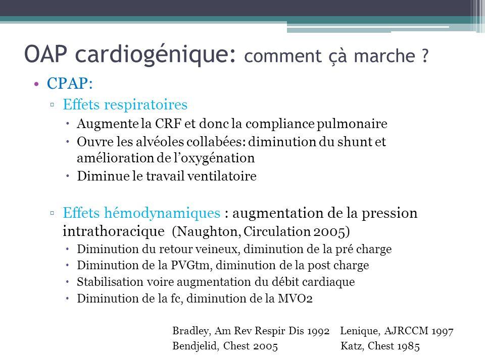 OAP cardiogénique: comment çà marche .