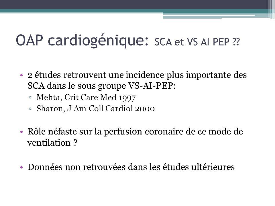 OAP cardiogénique: SCA et VS AI PEP ?.