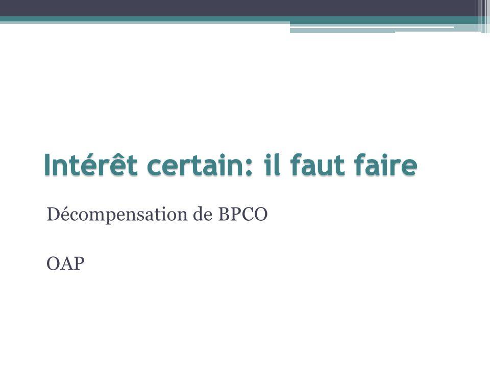 Décompensation de BPCO OAP