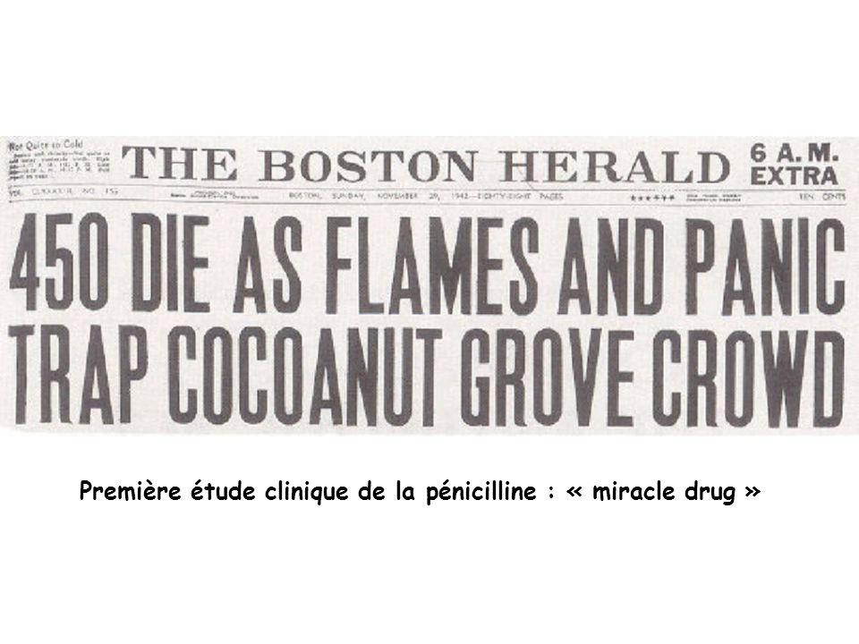 Première étude clinique de la pénicilline : « miracle drug »