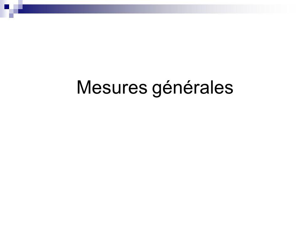 Mesures générales