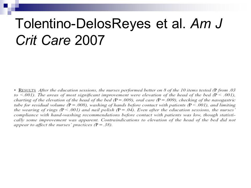 Tolentino-DelosReyes et al. Am J Crit Care 2007