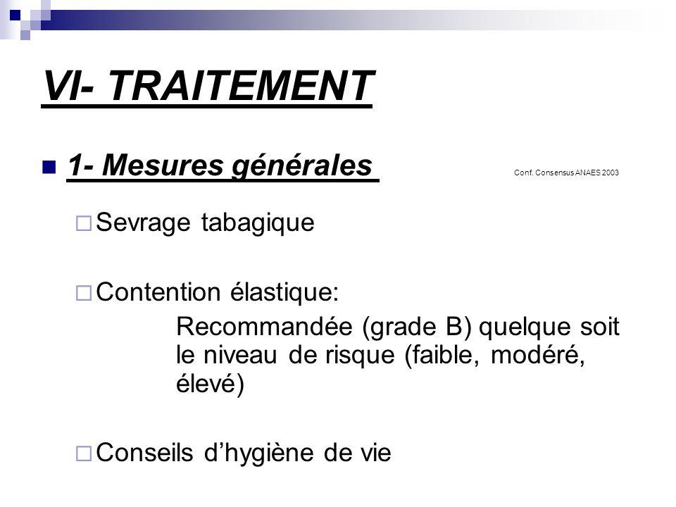 VI- TRAITEMENT 1- Mesures générales Conf.