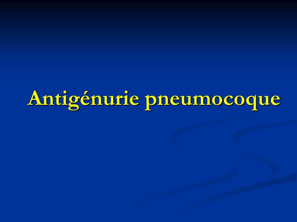 Antigénurie pneumocoque