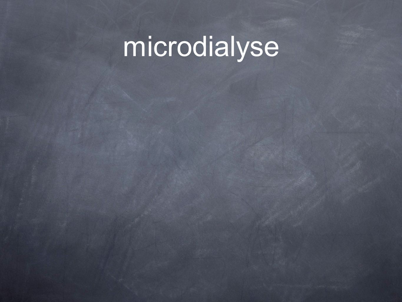 microdialyse
