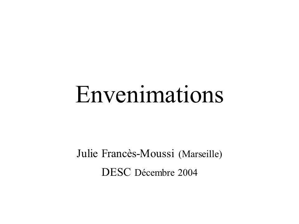 Envenimations Julie Francès-Moussi (Marseille) DESC Décembre 2004