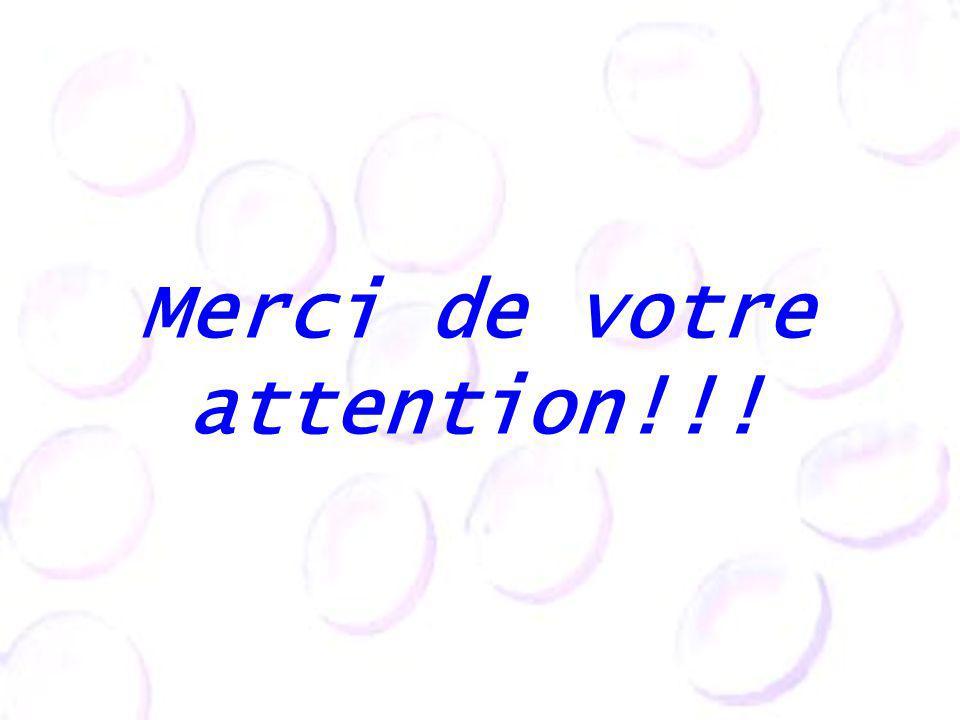 Merci de votre attention!!!