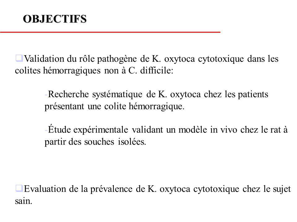 METHODES Inclusion de tous les patients hospitalisés entre Mars 2001 et Avril 2004 pour colite sous antibiotiques sans mise en évidence de C.