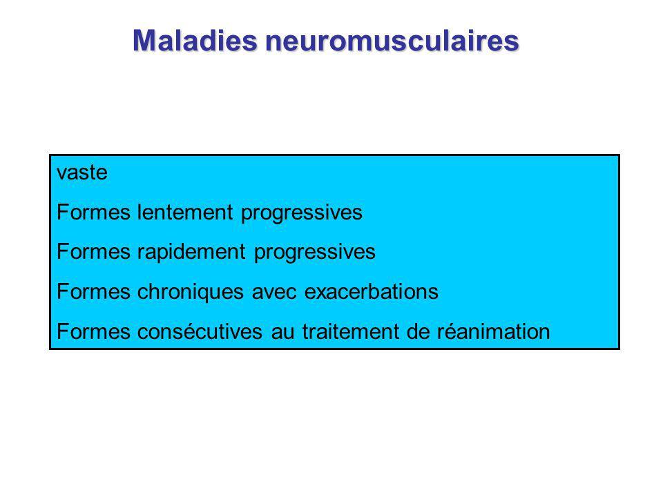 Rev Mal Respir, 1999 Défaillances respiratoires aiguës dorigine neuromusculaire.