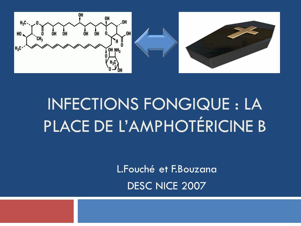 INFECTIONS FONGIQUE : LA PLACE DE LAMPHOTÉRICINE B L.Fouché et F.Bouzana DESC NICE 2007