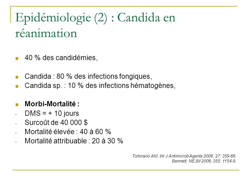 Epidémiologie (3) : Augmentation progressive de certaines espèces de Candida Pfaller et al.