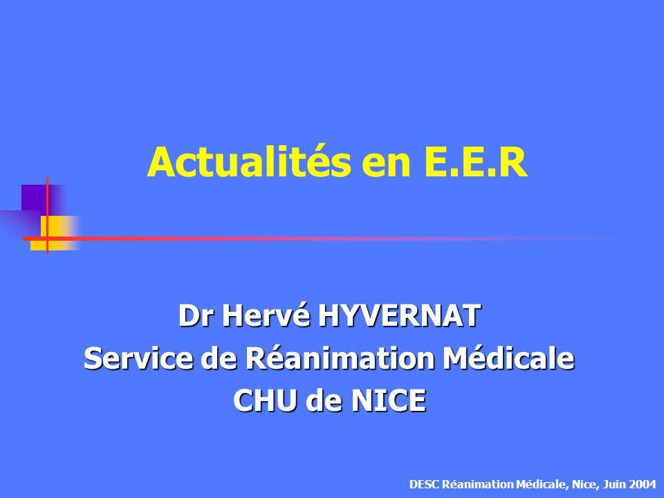 Dose de dialyse en hémofiltration (2) RONCO, Lancet, 2000