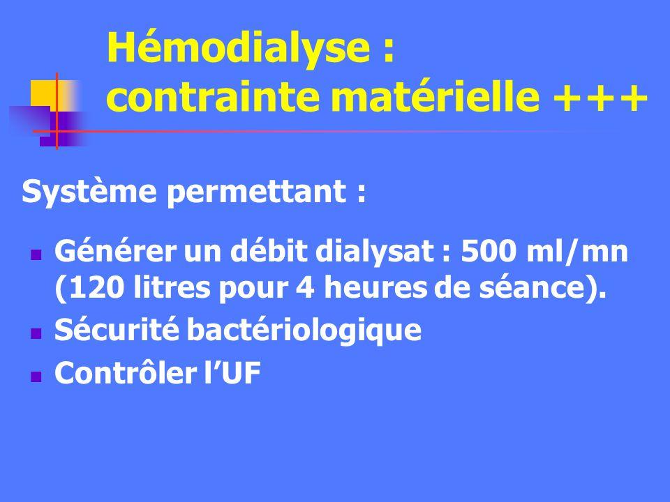 Hémo(dia)filtration continue - Machine compacte - Dialysat 1 à 2 litres/h - Consommable en poche - Automatisée - Utilisation facile - Mise en route ra