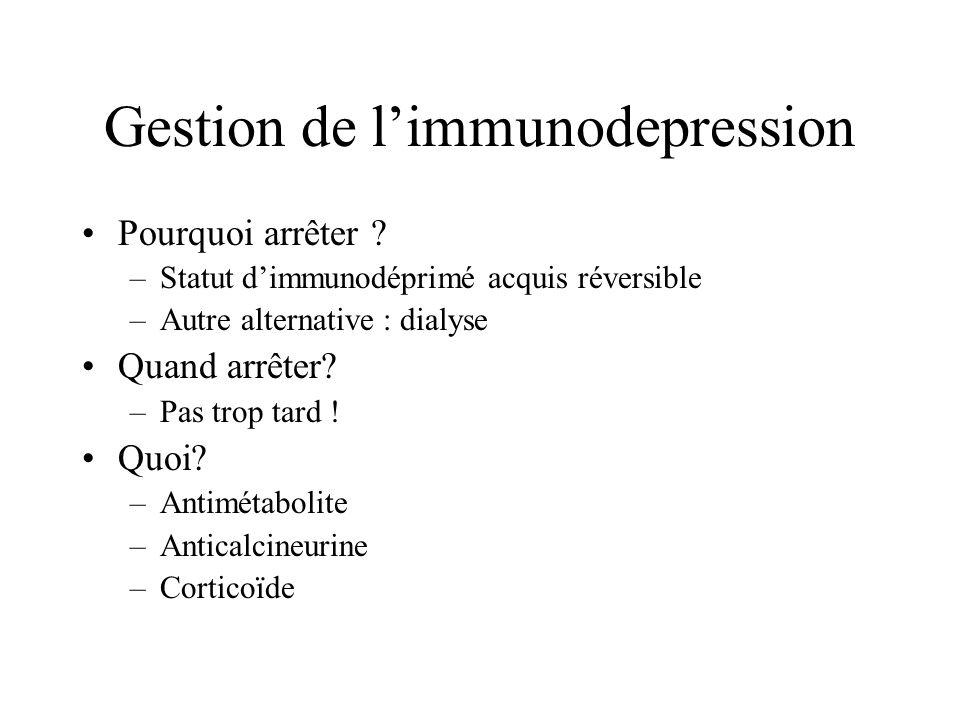 Gestion de limmunodepression Pourquoi arrêter .