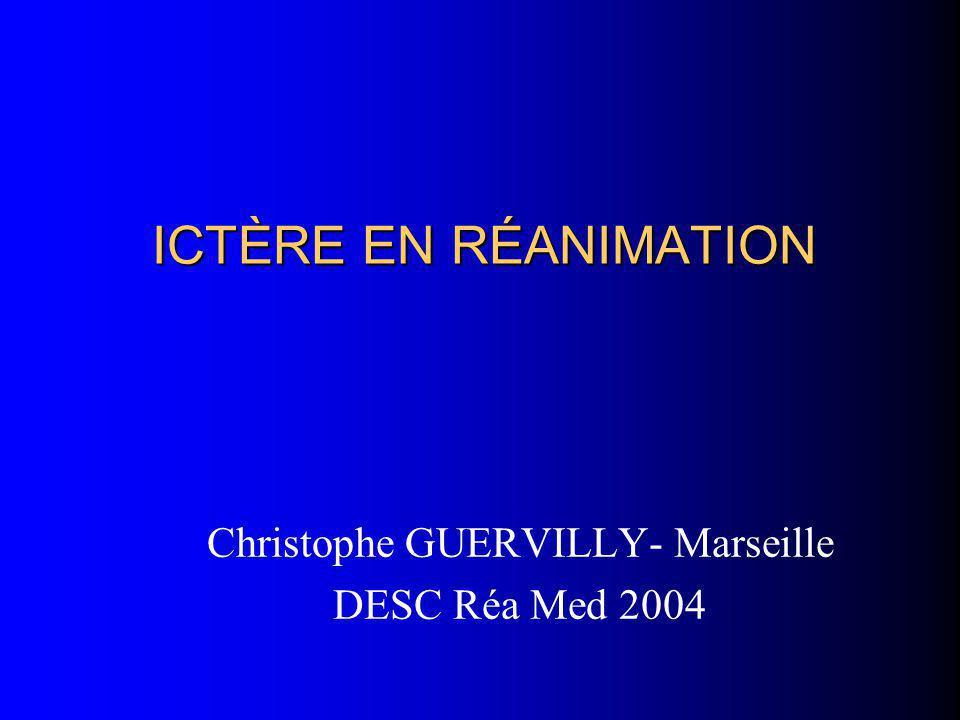 ICTÈRE EN RÉANIMATION Christophe GUERVILLY- Marseille DESC Réa Med 2004