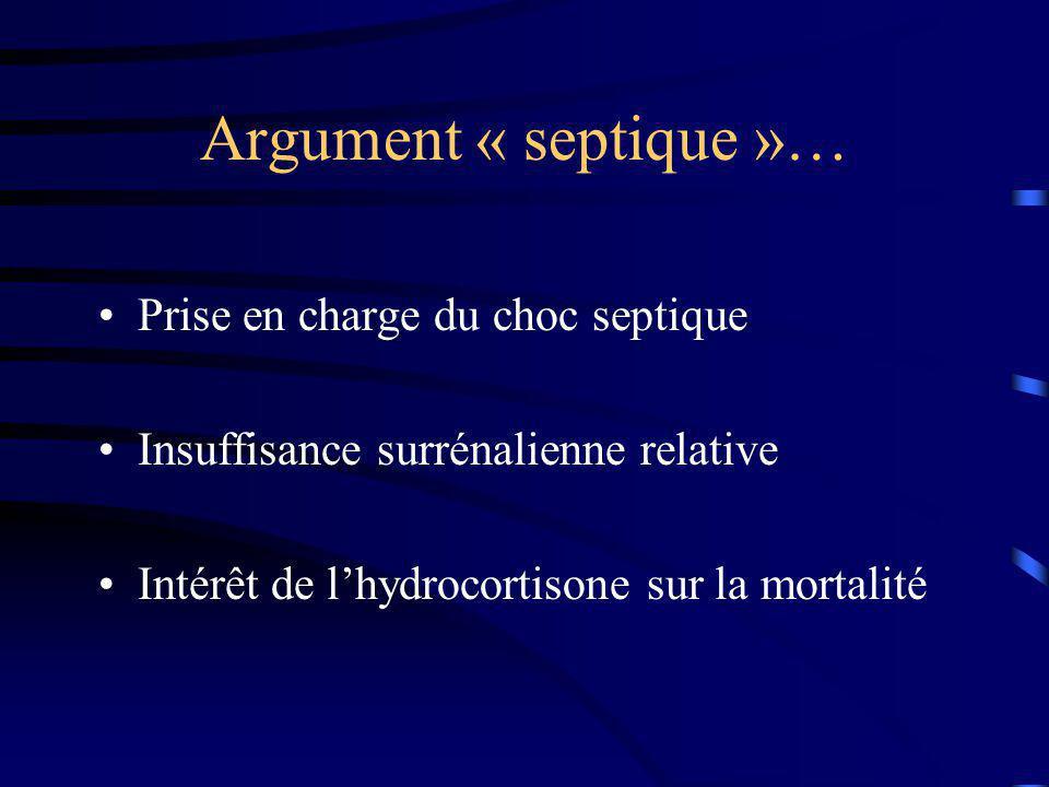 Argument physiopathologique ??