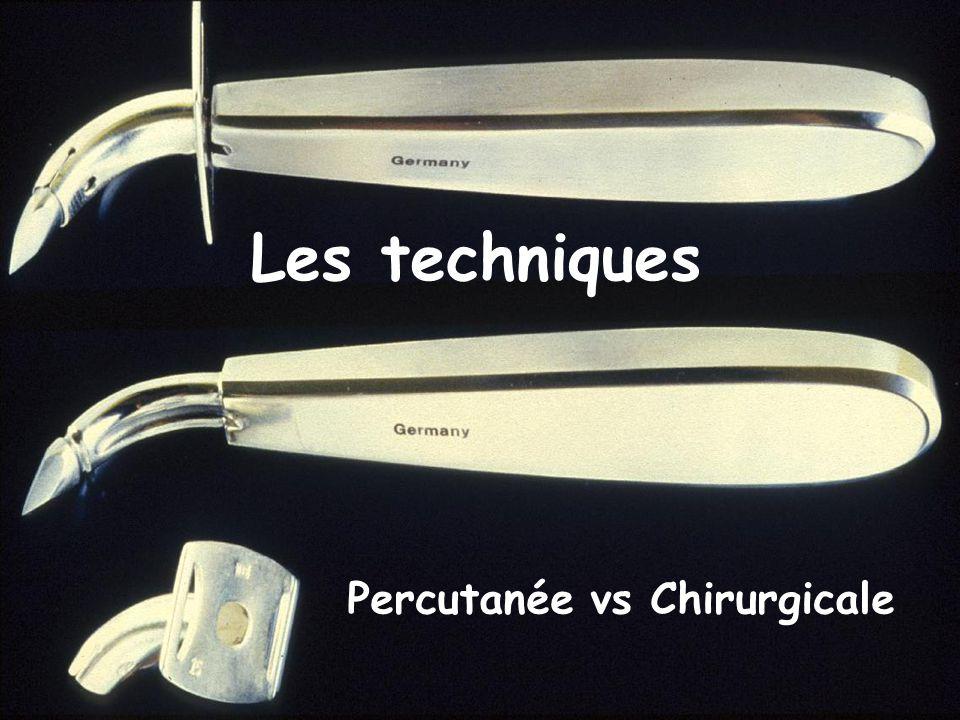 Les techniques Percutanée vs Chirurgicale