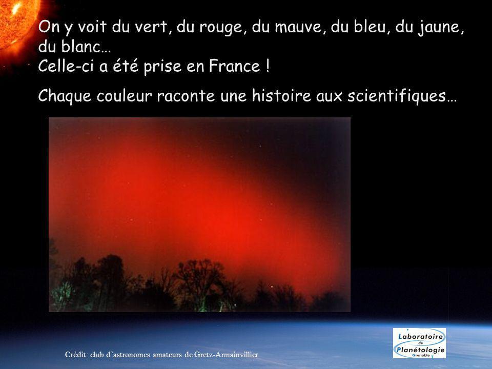 On y voit du vert, du rouge, du mauve, du bleu, du jaune, du blanc… Celle-ci a été prise en France .
